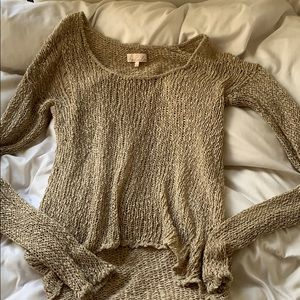 Tan Knit Sweater - Aritzia S